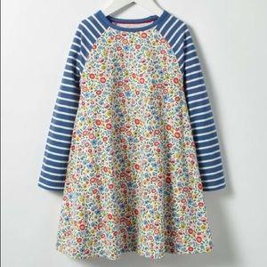 Mini Boden Jersey Swing Dress, Multi Mini Floral